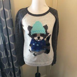 Justice raccoon sweater